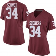 Game Women's Zach Schmit Oklahoma Sooners Crimson Football College Jersey