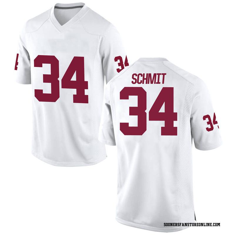 Replica Men's Zach Schmit Oklahoma Sooners White Football College Jersey